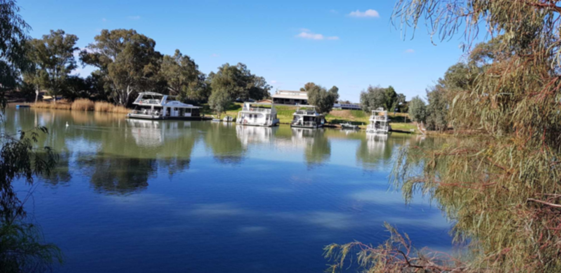 Murray Darling Houseboats private secure Marina on the Darling River