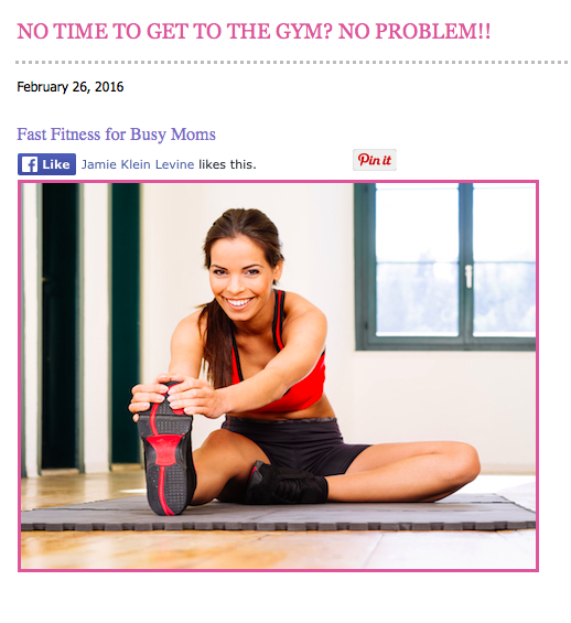 Fast Fitness for Busy Moms