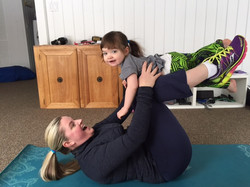 Postnatal exercise with baby