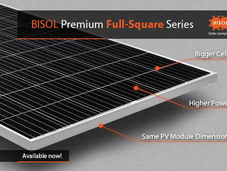 Bigger solar cells. Higher output powers. Better yields ... in BISOL standard PV module sizes!