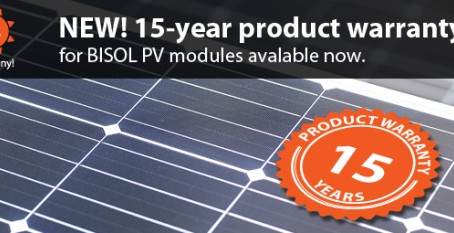 Warranty change announcement – Product warranty for BISOL PV modules increased to 15 years
