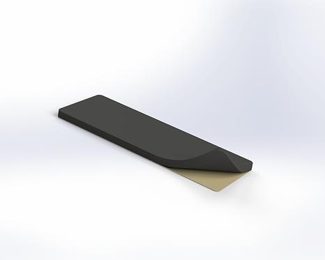 EPDM rubber insert 3 mm self-adhesive, L = 30 mm W = 80 mm