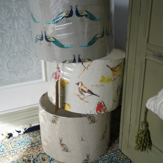 Locally handmade lampshades