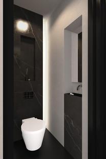 Toilet ontwerp appartement