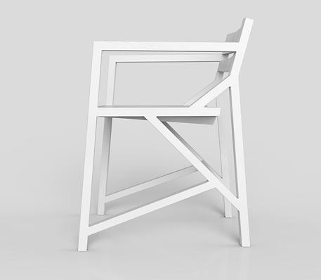 Kamon arm stoel - Wit