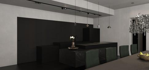 Keuken ontwerp appartement
