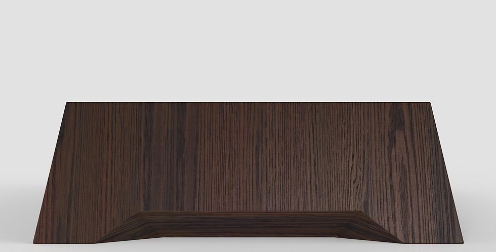 modern eiken salontafel met facetten