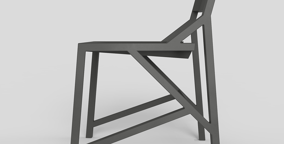 grijze Kamon design stoel