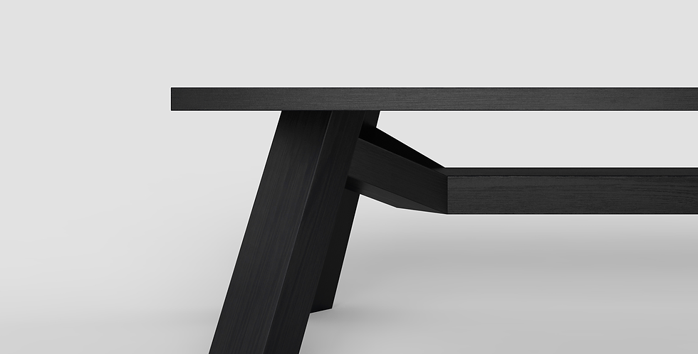 moderne eetkamer tafel ontworpen en gemaakt in Nederland