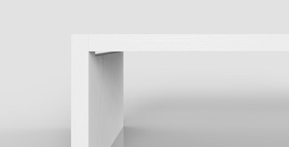 minimalistische tafel business wit