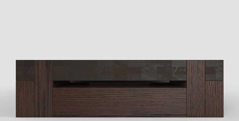donker eikenhouten salontafel gemaakt op maat