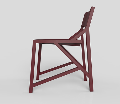 Kamon stoel - Wijnrood