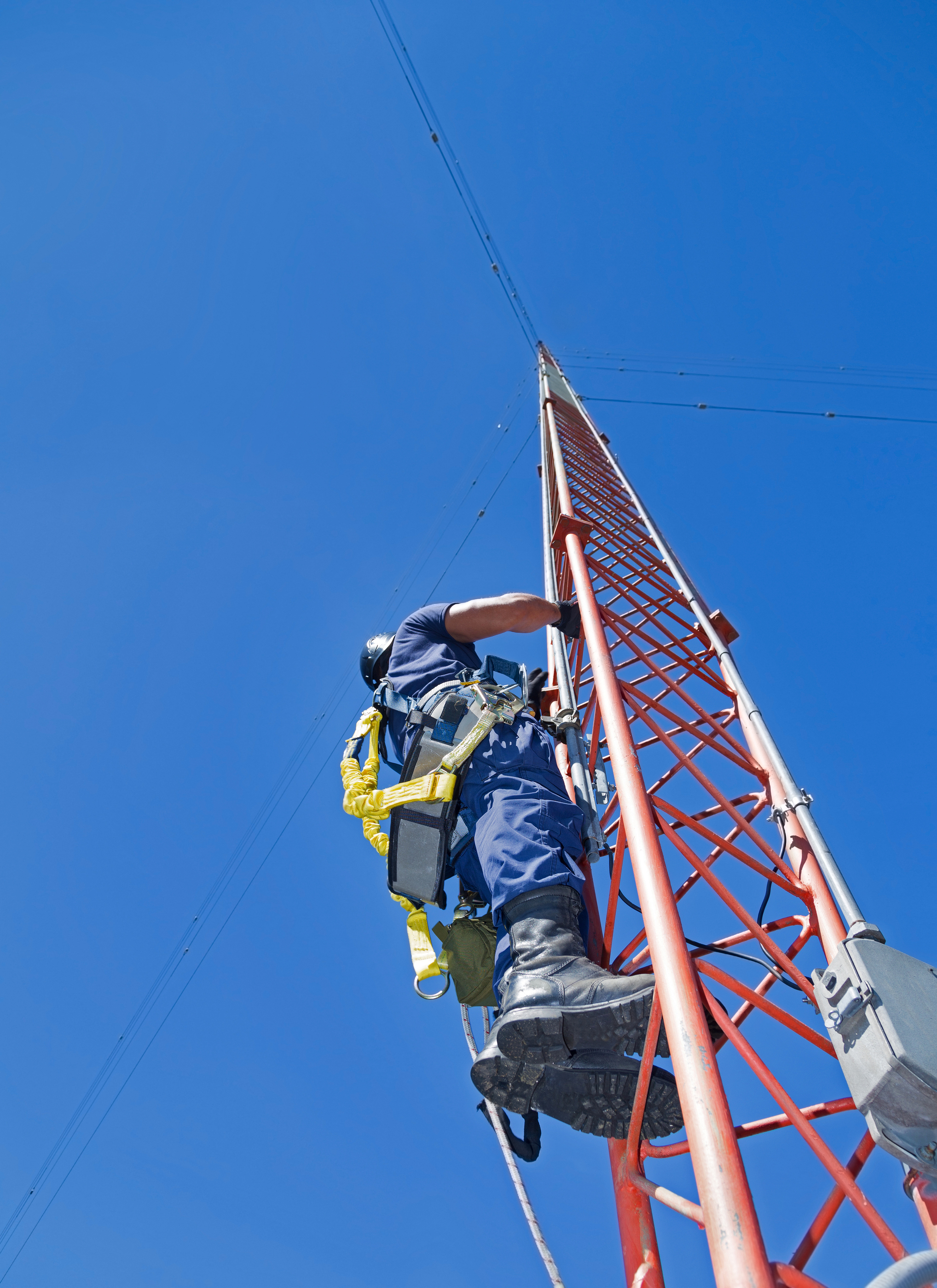 Climber On Antenna Tower