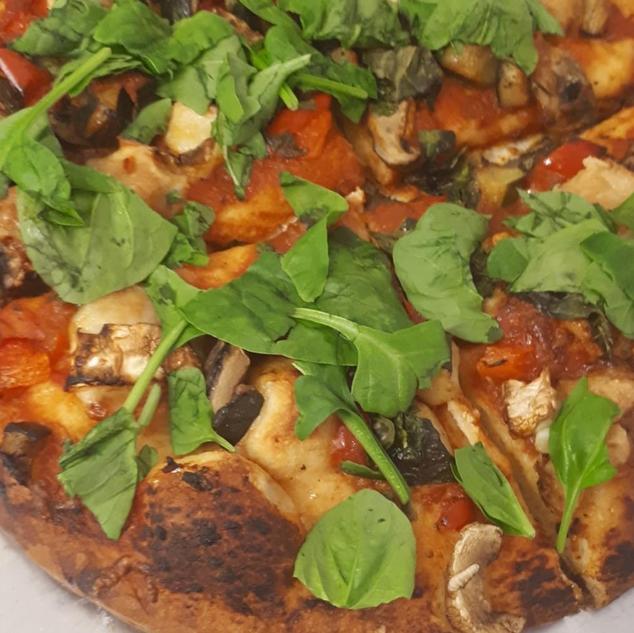 Homemade Fresh Veggie Pizza