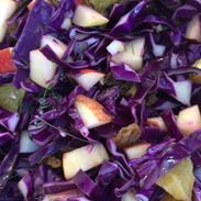 Fresh Reb Cabbage Salad