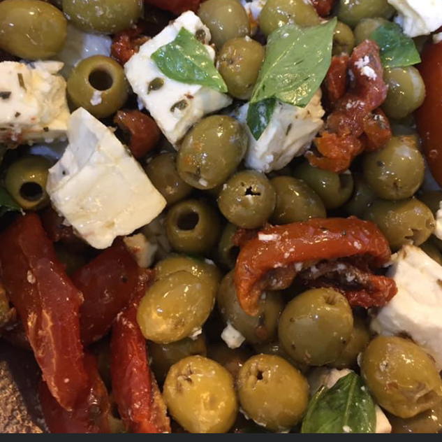 Olives, Feta and Sun Dried tomatoes