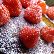 Fresh Strawberries & Lemon Cake
