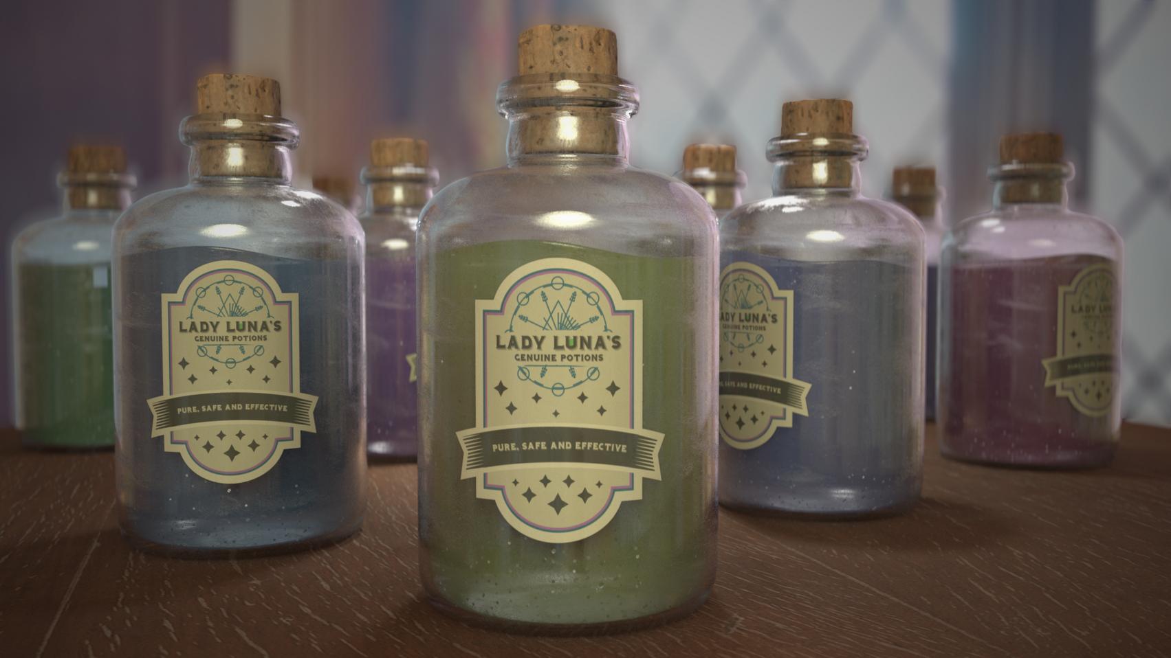 Lady Luna's Spice Shop promotional render. Handled modeling, texturing, lighting, and rendering.