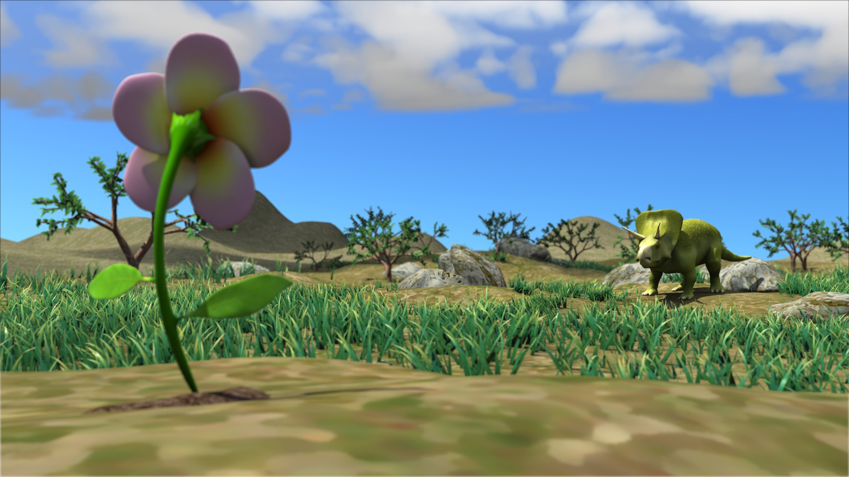 Thesis film screenshot. Created all elements of the shot.