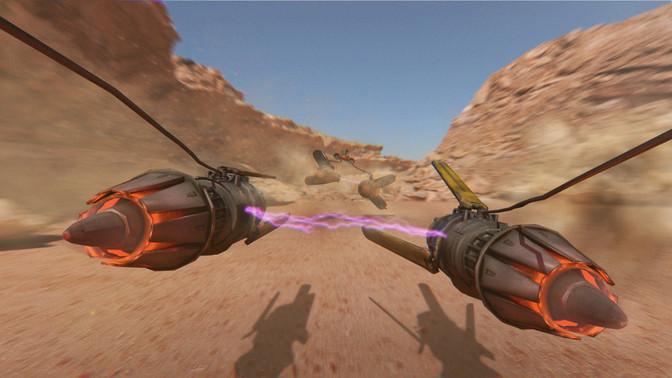 Anakin Podracer provided by Gleb Tagirov. Sebulba Podracer provided by Chen Yang.