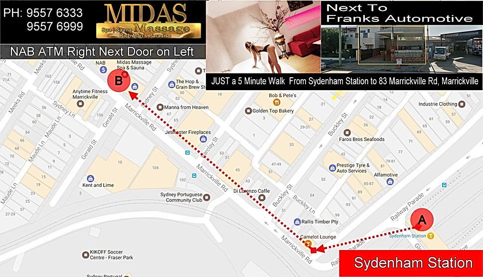 Direction To Midas Massage