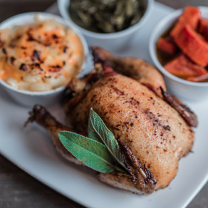 Cornish Hens with Cranberry Sauce