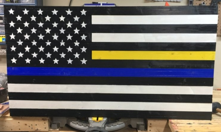Thin Blue and Gold Line Flag