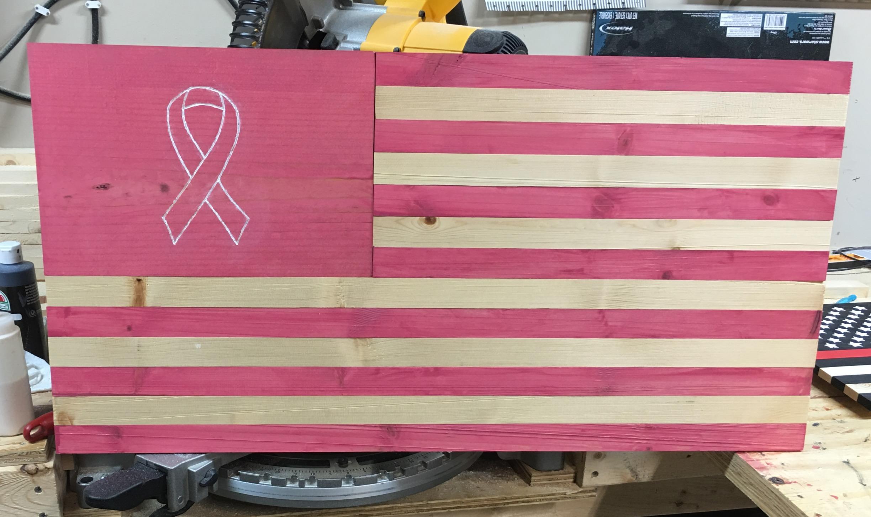 Pink Ribbon Flag