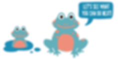 Cartoon frogs playing