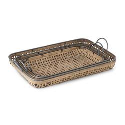 Basket weave trays