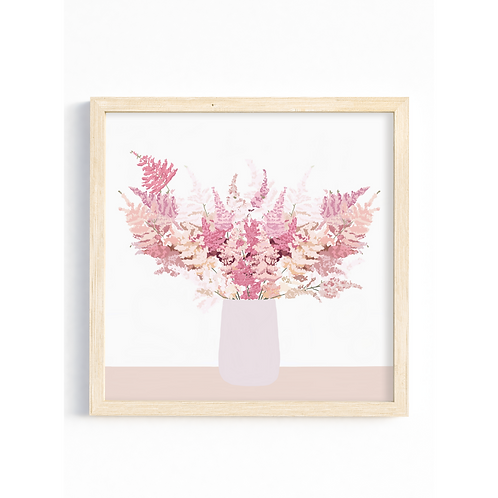 Pink Pampas - Square