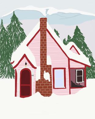 Love House Art Print | Mint House Studio