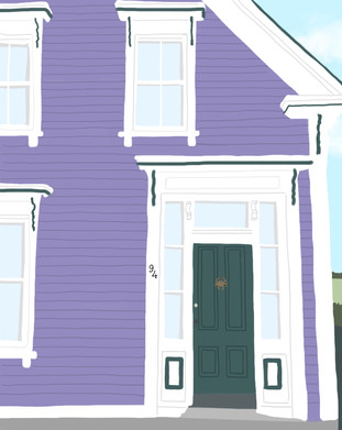 Lunenburg House Art Print | Mint House Studio