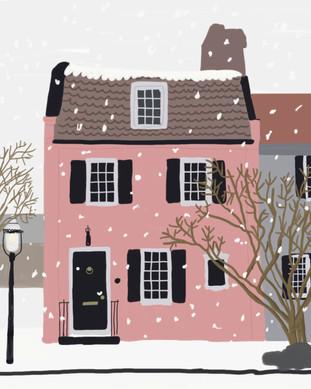 Charleston House Art Print | Mint House Studio