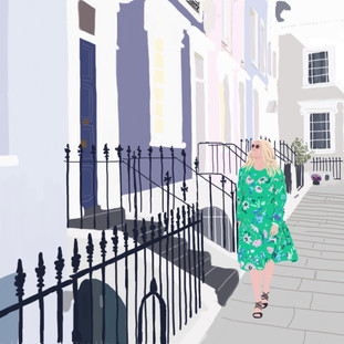 Notting Hill Art Print | Mint House Studio