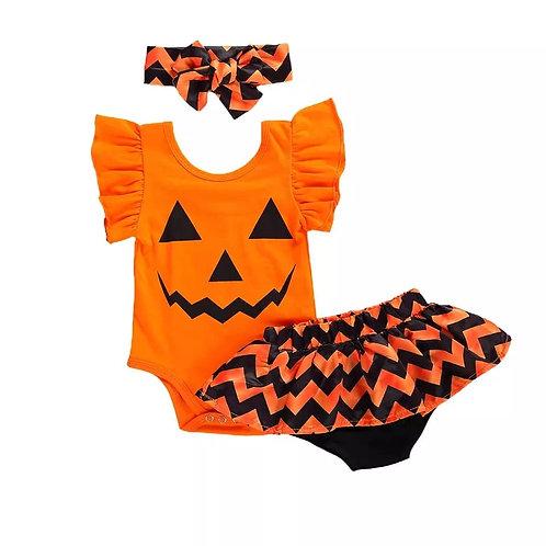 Pumpkin Ruffle Set