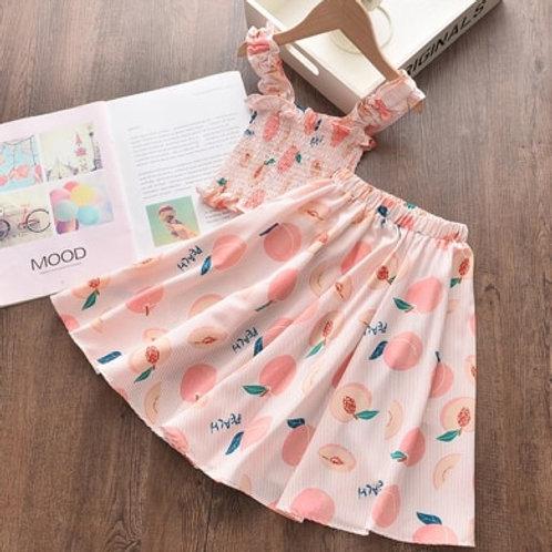 Peach Skirt Set