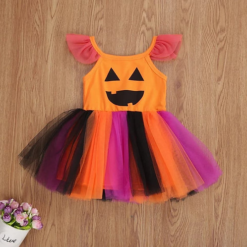 Pumpkin Tulle Dress