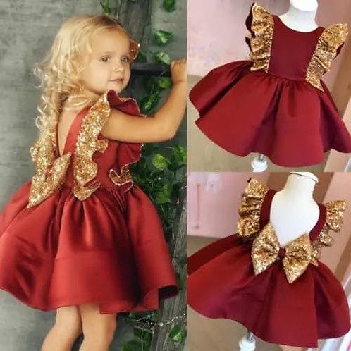 Glitterbelle Dress Red