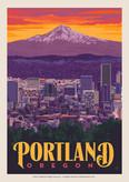 Portland Skyline Sunrise