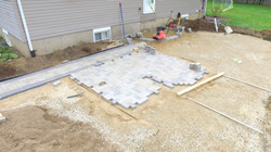 Sky View of laying pavers