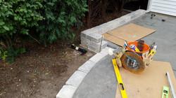 Installing Unilock Blocks Wall