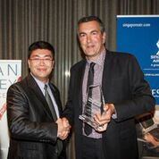 James Talijancich receiving his award