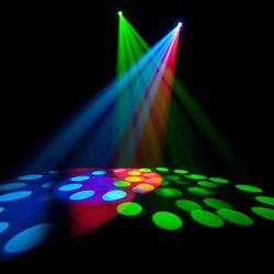 Party Light On Dance Floor