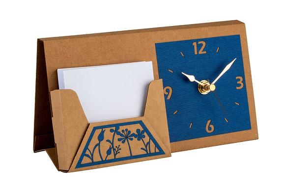 סט לעיצוב שולחן המשרד - שעון ודפי תזכורת