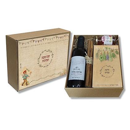 Rosh Hashanah Wine and Honey Gift Box