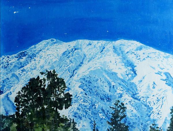 La montaña, oleo 2014. 55 x 65 cm.