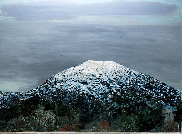 Manquehue nevado, oleo 2014-15. 135 x 180 cm.