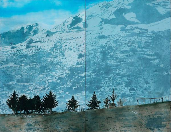 Yerba Loca, oleo 2016. 185 x 270 cm.