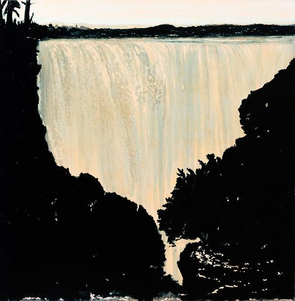 Crisis hídrica, oleo 2010-17. 165 x 145 cm.
